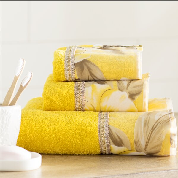 Lys 3 Piece 100% Cotton Towel Set by Lark Manor